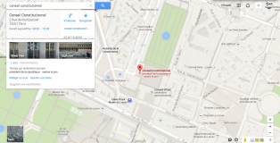 Marine Le pen Conseil Constitutionnel Google Maps